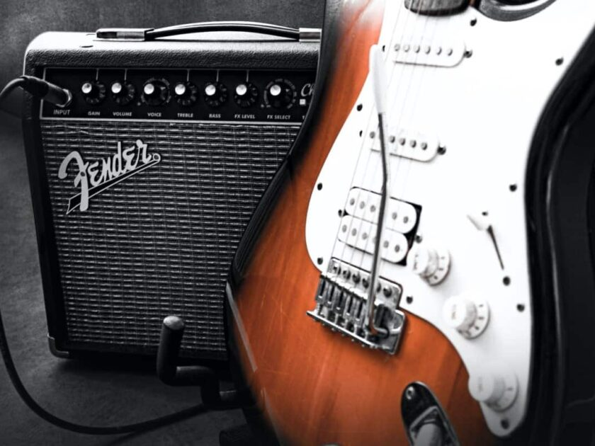 Guitar and amp image