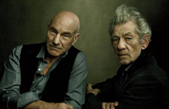Patrick Stewart & Ian McKellen, in New York City. ©Annie Leibovitz.