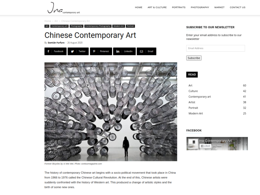 Article Writing For The Art Site ina-contemporary.art